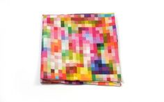 pocket square PIXEL print marthu