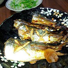 また鯵を頂きました この前は南蛮漬けにしたので 今日は煮てみた - 101件のもぐもぐ - 鯵の煮付け もやしと水菜のサラダ by yukimaru218
