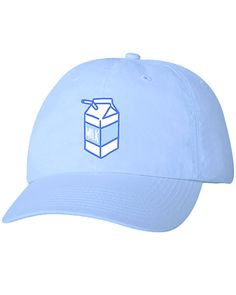 e2357c12f61 Absorb the essence of dairy into your cranium via these baby blue caps  emblazoned with the crest of the royal house of the calcium kingdom!