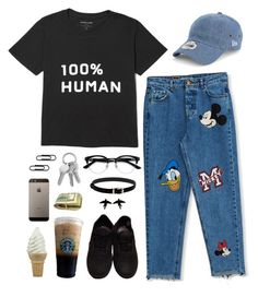 """Sem título #2014"" by annefs1 ❤ liked on Polyvore featuring Pull&Bear, Vans, New Era, Ace and olgafacesrok"