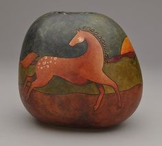 """Free Spirit"" Gourd Pot by Diane Springer!"