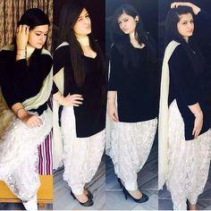 Black and white suit visit us at https:/www.facebook.com/punjabisboutique email: nivetasfashion@gmail.com