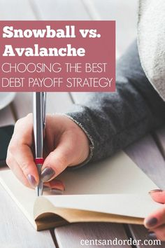 What's the best debt repayment method?  Determine if the snowball or avalanche method is the right debt payoff option for you. Free debt payoff plan printable!
