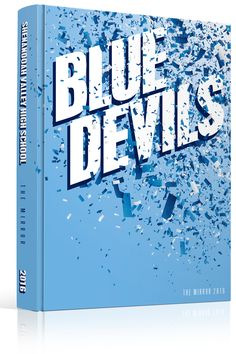 yearbook cover shenandoah valley high school mascot blue devils blue confetti