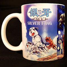 Ginga Nagareboshi Gin - Coffee MUG - Anime - Manga - cup - silver fang Handmade Items, Handmade Gifts, Mug Cup, Dog Pictures, Textile Art, Gin, Weed, Coffee Mugs, Sculpture