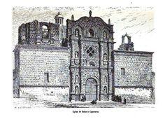 La Iglesia de Belén en Cajamarca. Dibujo del año 1877.