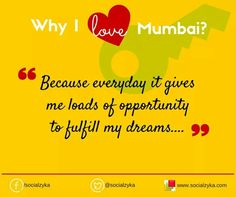 Reason to love mumbai
