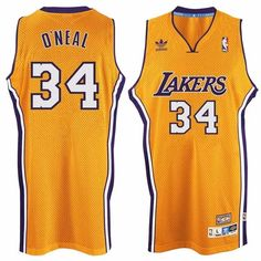 f49310e2d camisa de basquete los angeles lakers johnson bryant oneal Shaquille  O neal