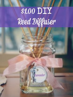 $1.00 DIY Reed Diffuser from cupcakesandcrinoline.com