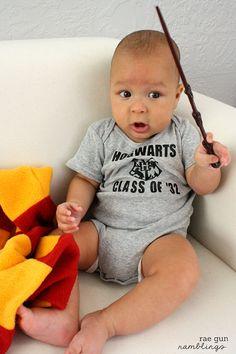 Hogwarts Class of Harry Potter personalized baby onesie by raegun via etsy