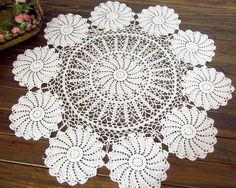 Vintage Handmade Crochet Tablecloth Doliy 90CM(36 Inch) ROUND(China (Mainland))