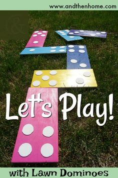 With summer upon us, its time to turn our attention to the outdoors. You'll love this easy DIY. Lawn dominoes are perfect for camping, backyards, BBQ's and kids and adults alike. Bbq Games, Camping Games, Camping Activities, Picnic Blanket, Outdoor Blanket, Business For Kids, Kids Fun, Long Weekend, Summer Fun
