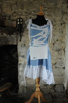 Adult Zombie Alice in Wonderland costume by OshunCreations on Etsy, £45.50