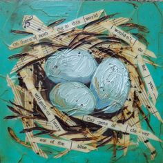 Art - Eggs & Nest,  by Nancy Kremiller