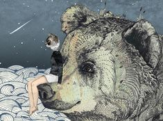 Karhu ja Kissi. By Sandra Dieckmann