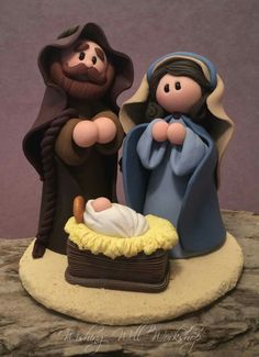 Polymer Clay Nativity-Wishing Well Workshop More Mehr The Effective Pictures We Offer You About Polymer Clay Crafts pokemon A quality picture can tell you many things. Polymer Clay Kunst, Polymer Clay Miniatures, Fimo Clay, Polymer Clay Projects, Polymer Clay Creations, Clay Crafts, Clay Beads, Clay Christmas Decorations, Polymer Clay Christmas