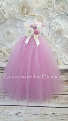 40% OFF ALL ORDERS-Dusty Rose Flower Girl Tutu Dress-Dusty