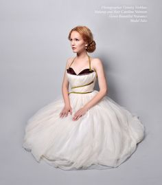 Retro Couture Wedding Dress - Ivory and White silk organza with Cherry sweetheart bust. Custom. on Etsy, $1,800.00