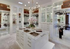 Huge all white walk in closet