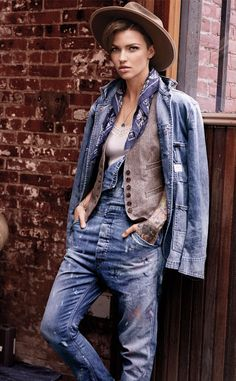 ❤ Ruby Rose is the new face of Ralph Lauren's Denim & Supply.
