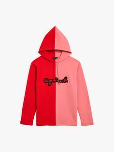 sweat hoody bicolore rouge et rose | agnès b. Hoody, Sweaters, Collection, Fashion, Red Roses, Bicolor Cat, Moda, Fashion Styles, Sweater
