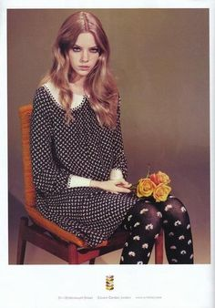 Love the tights and the dress! Mod