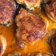 Crispy, Buttery Buffalo Baked Chicken Thighs Recipe - The Kitchen Magpie Low Carb Oven Baked Chicken Legs, Pan Fried Chicken, Bottom Round Roast Recipes, Cube Steak And Gravy, Chicken Thigh Recipes, Low Carb Recipes, Healthy Recipes, Waffles, Cooking