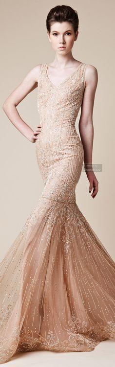 Soft and pretty.  Rani Zakhem Spring/Summer 2014.  Via @kamarobb78. #gowns #RaniZakhem