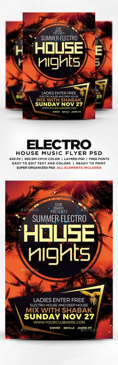 Summer Electro House Nights Flyer