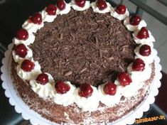 čokoládovo-višňová torta