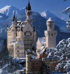 Visit the the inspiration for Cinderellas Castle. Neuschwanstein Castle, Bavaria, Germany
