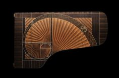 Steinway & Sons recently unveiled their piano and it's absolutely stunning. Designed by the famed Frank Pollaro, the piano is named The Fibonacci after the mathematical sequence, picturing the iconic spiral on its veneer. The Piano, Grand Piano, Piano Bar, Fibonacci Spiral, Golden Ratio, Art Case, London Art, Rock, Design