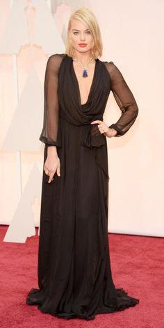 Margot Robbie in Saint Laurent: 87th Annual Academy Awards - Arrivals