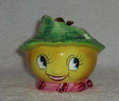 Vintage PY Anthropomorphic LEMON Sugar Jam Jar ETSY