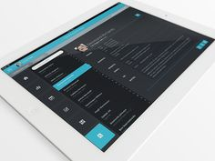 Dribbble - Flat iPad Tablet App & Dashboard - Contacts Screen by Joel Ferrell