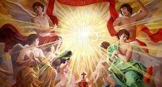 Holy Name of Jesus / El Santísimo Nombre de Jesús // ceiling / work of art by © Raúl Berzosa // Oratorio de la Hermandad de las Penas, Málaga, España // #veneration