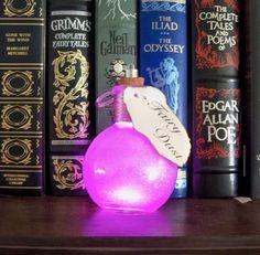 Light Up Bottles Fairy Dust ~Pink