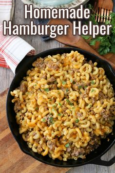 Learning how to make Homemade Hamburger Helper is easy and simple. This recipe comes together quickly for a meal the whole family will enjoy. Pork Recipes For Dinner, Italian Dinner Recipes, Yummy Pasta Recipes, Sicilian Recipes, Healthy Crockpot Recipes, Casserole Recipes, Beef Recipes, Cooking Recipes, Copycat Recipes