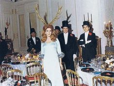 "The Rothchilds Surrealist Ball 1972 - The Hostess Marie-Hélène de Rothschild -  Never has there been a dinner party quite like the ""Diner de Têtes Surrealiste"" that took place at the suburban Parisian mansion of Baron Guy de Rothschild and his Marie-Helene de Rothschild - 1972 - Paris"