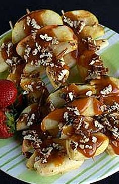 """""""Fall is in the Air"""" Fruit Kebobs with Georgia Pecans, from the Georgia Pecan Commission"""