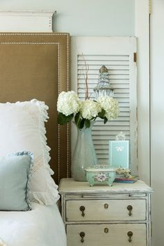 love the shutter behind the nightstand