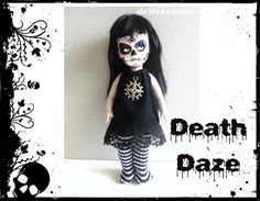 Black Widow Black Goth Clothes Dress and Lace by DOLLS4EMMA on Etsy