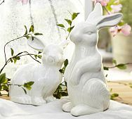 Ceramic bunnies...I think I like them especially because my mom use to have something very similar.