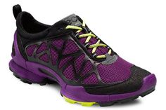 ECCO Biom Trail 1.2 in Black/Purple Glow. Look like you mean business when you work out!