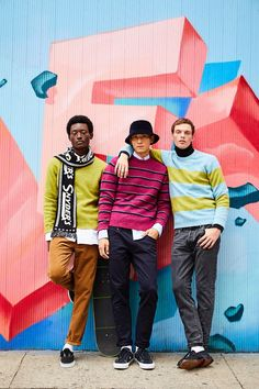 Rocky Youssouf & InHyuk Take to LES in Colorful Todd Snyder Styles Todd Snyder Timex, Todd Snyder Champion, Fashion Brand, Mens Fashion, Ski Sweater, The Fashionisto, Lower East Side, Slim Fit Trousers, Sporty Style