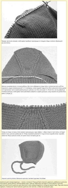 hood knitting- follow the visual clues..