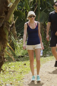 even her hiking clothes are flawless