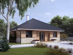 projekt Elka 2 dr-st BSA2140 House Layout Plans, House Layouts, Bungalow Extensions, Mexico House, Bungalow House Design, Architectural Design House Plans, Dream Bathrooms, Home Fashion, Gazebo