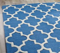 Arabesque Denim Blue Rugs | Modern Rugs