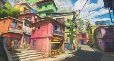 3d Modellierung, Wave City, Cartoon House, Future Buildings, Color Script, Spyro The Dragon, Game Background, Environment Concept Art, Rio De Janeiro